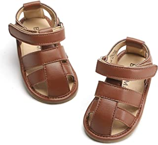 Bear Mall Infant Baby Girls Boys Sandals Soft Rubber Sole Leather Baby Walking Shoes(Infant/Toddler)