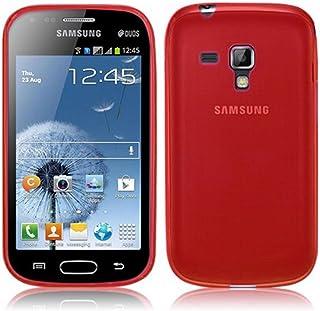 5e8a12f9a2e TBOC® Funda de Gel TPU Roja para Samsung Galaxy S Duos 2 S7582 de Silicona