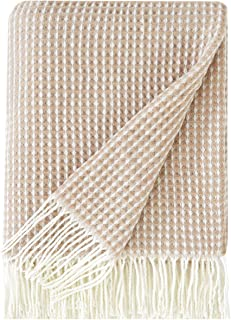 PHF Acrylic Throw Blanket Waffle Weave Perfect Warm for Winter Bed Home Decor Woven Shawl Blanket 50