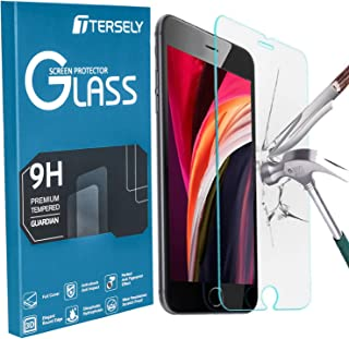 TERSELY Premium Screen Protector for Apple iPhone SE 2nd Generation, NO Bubbles Tempered Glass Screen Protector Film for i...