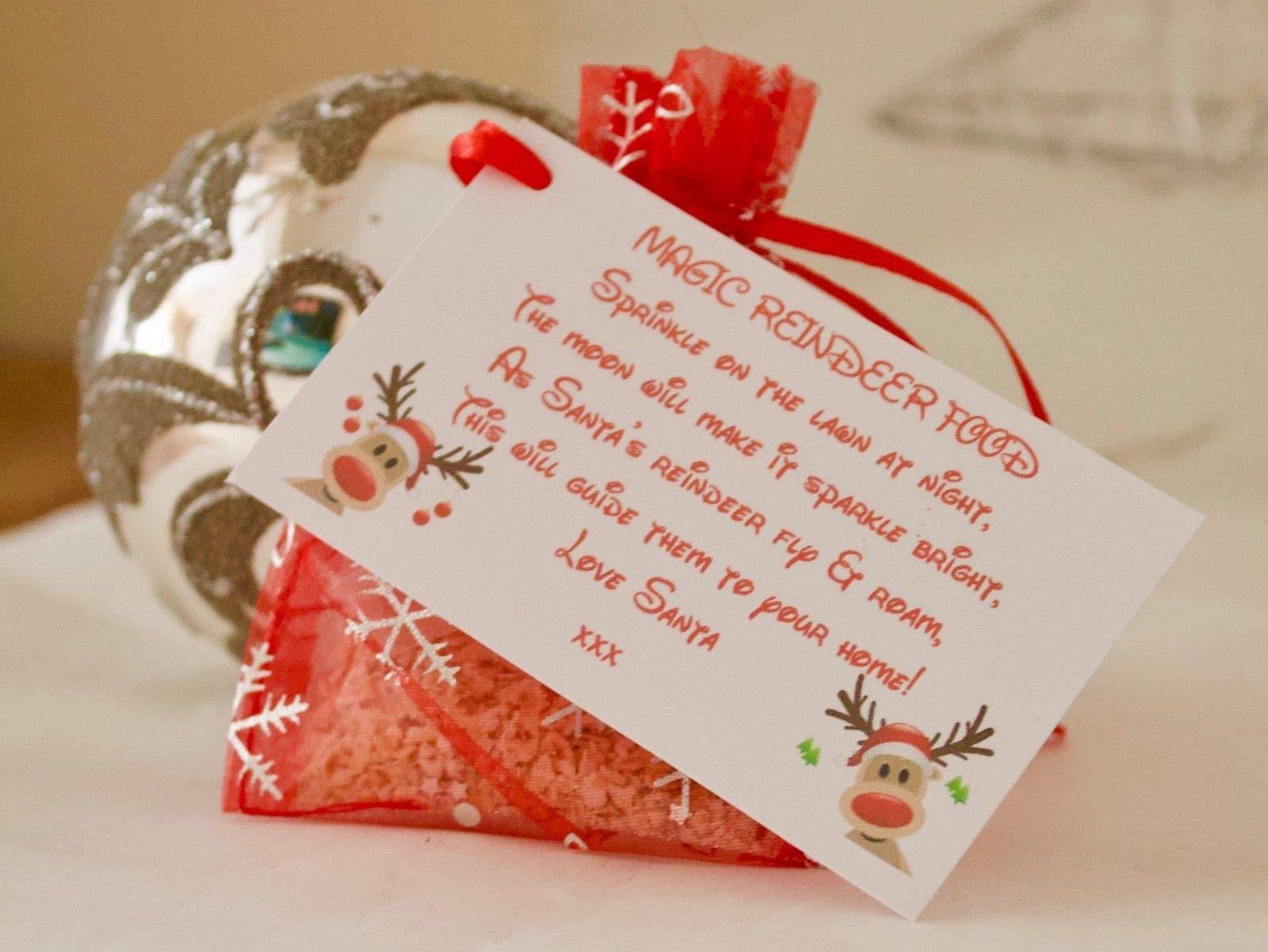 Magic Reindeer Food Christmas Traddition Santa Dust Christmas Eve Box
