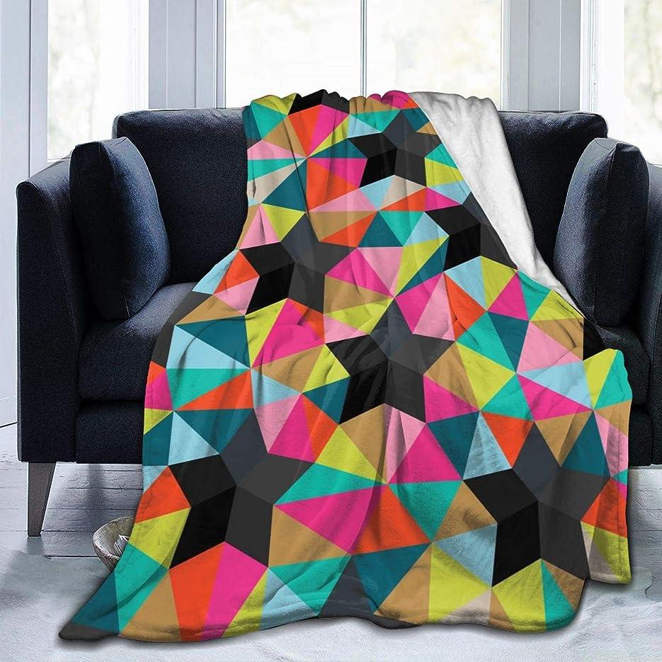 ピンチ違法効果幾何星 三角形 マルチカラー 毛布 掛け毛布 ブランケット シングル 暖かい柔らかい ふわふわ フランネル 毛布 三つのサイズ