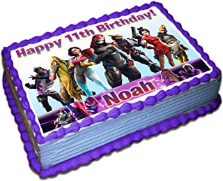 Fortnite (9 Season) Personalized Cake Toppers Icing Sugar Paper 1/4 8.5 x 11.5 Inches Sheet Edible Frosting Photo Birthday Cake Topper Fondant Transfer (Best Quality Printing)