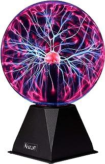 Katzco Boule de plasma – 19 cm – Nebula, Thunder Lightning, plug-in – pour fêtes, décorations, accessoires, enfants, chamb...