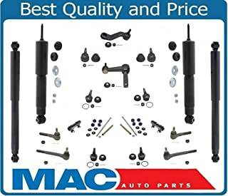 Fits 1994-1999 Dodge Ram Pick Up 1500 Rear Wheel Drive Tie Rods Idler Arm Pitman Arm Stabilizer Links Shock Absorbers Ball Joints 20 Pieces