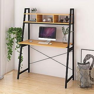 Radelldar Table d'ordinateur avec Rangement Bureau Informatique Petit Espace Table de Bureau avec Etageres Postes de Trava...