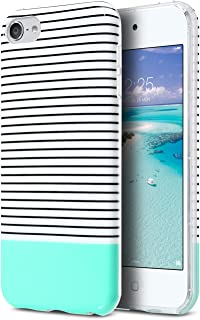 ULAK iPod Touch 7 Case,iPod 6 Case, Clear Case Slim Fit Anti-Scratch Flexible Soft TPU Bumper Hybrid Shockproof Protective Case for Apple iPod Touch 5 / 6th / 7th Generation, Minimal Mint