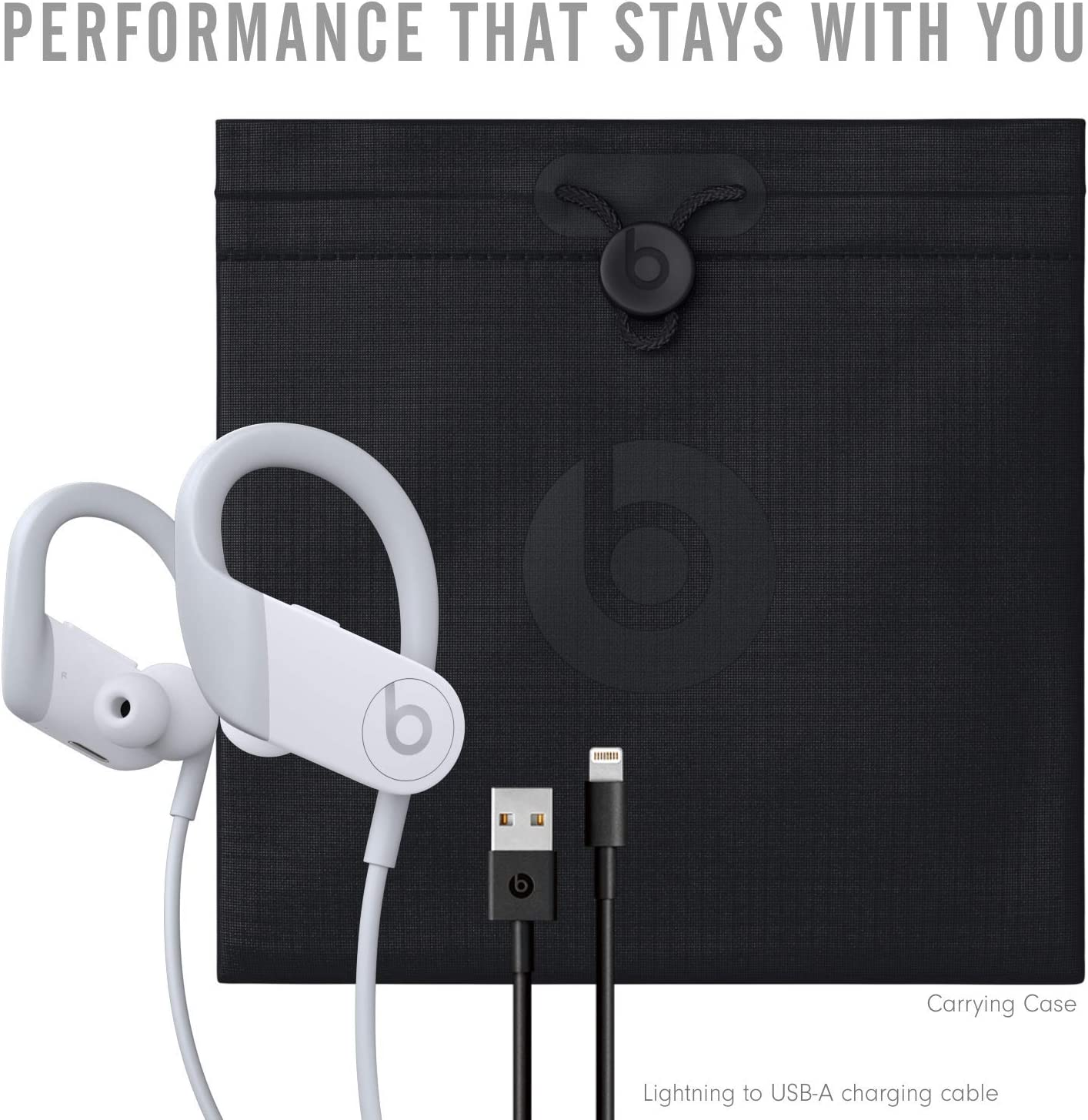 Beats by Dre Powerbeats High-Performance Wireless Earphones - White - MWNW2LL/A (Renewed)