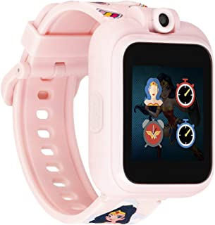 Wonder Woman PlayZoom Kids Smartwatch - Video and Camera Selfies Music Learning Educational Fun Interactive Games Touch Sc...