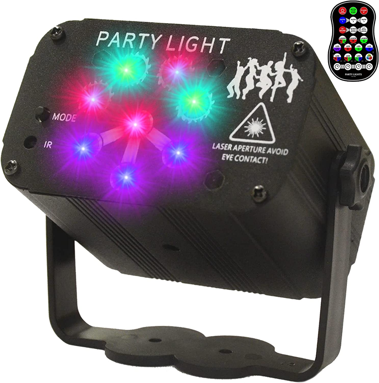 Goyappin Party Light Sale Sound Activated Limited time sale 8 Di 240 RGB Figures