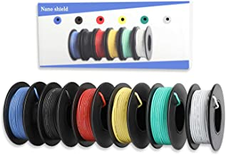 Nano Shield Hook-up Stranded Wire 22 AWG with UL3132, 6 Colors (23ft Each) Flexible 22 Gauge Silicone Wire Rubber Insulate...