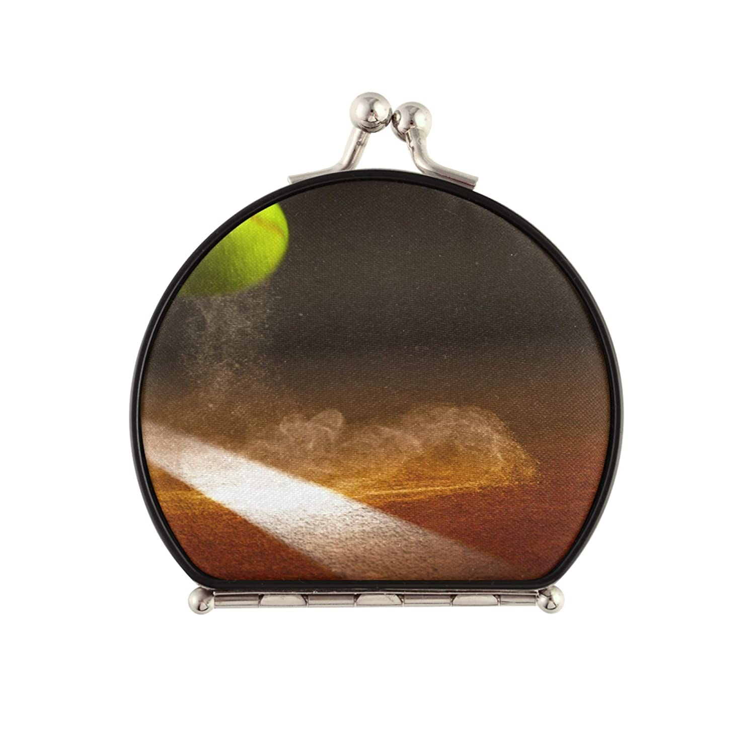 Sale CompactHandheldMirror Tennis Gifts Ball With Flames PocketR The In Air