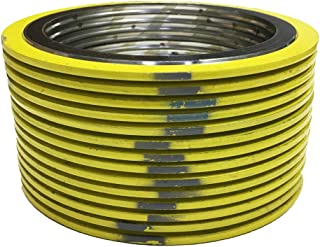 Sterling Seal 90004304GR900X6 304 Stainless Steel Spiral Wound Gasket with Flexible Graphite Filler for 4 Pipe Pack of 6 for 4 Pipe Supplied by Sur-Seal Inc Yellow with Grey Stripe of NJ Pressure Class 900#