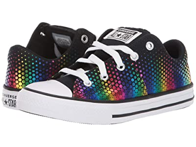 Converse Kids Chuck Taylor(r) All Star(r) Madison Kaleidoscope Ox (Little Kid/Big Kid) (Black/Multi/White) Girls Shoes