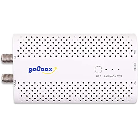 goCoax MoCA 2.5 Adapter for Ethernet Over Coax(Single Pack). MoCA 2.5. 1x GbE Port. Provide 2.5Gbps Bandwidth with existing coaxial Cables. Best Companion for Home mesh Wi-Fi, White(WF-803M)