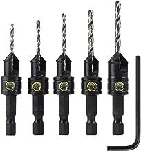 5 peças de troca rápida da Snappy Tools. Conjunto de brocas de pia com trava de profundidade giratória, 40030, 5 Piece Cou...