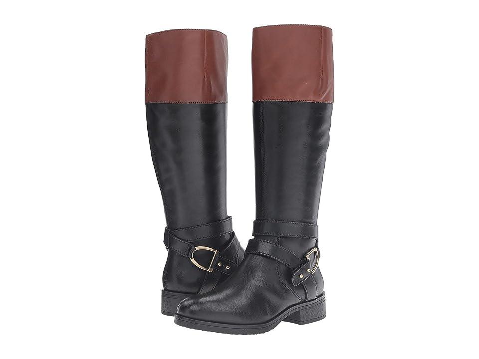 Bandolino Tessi (Black/Cognac Leather) Women