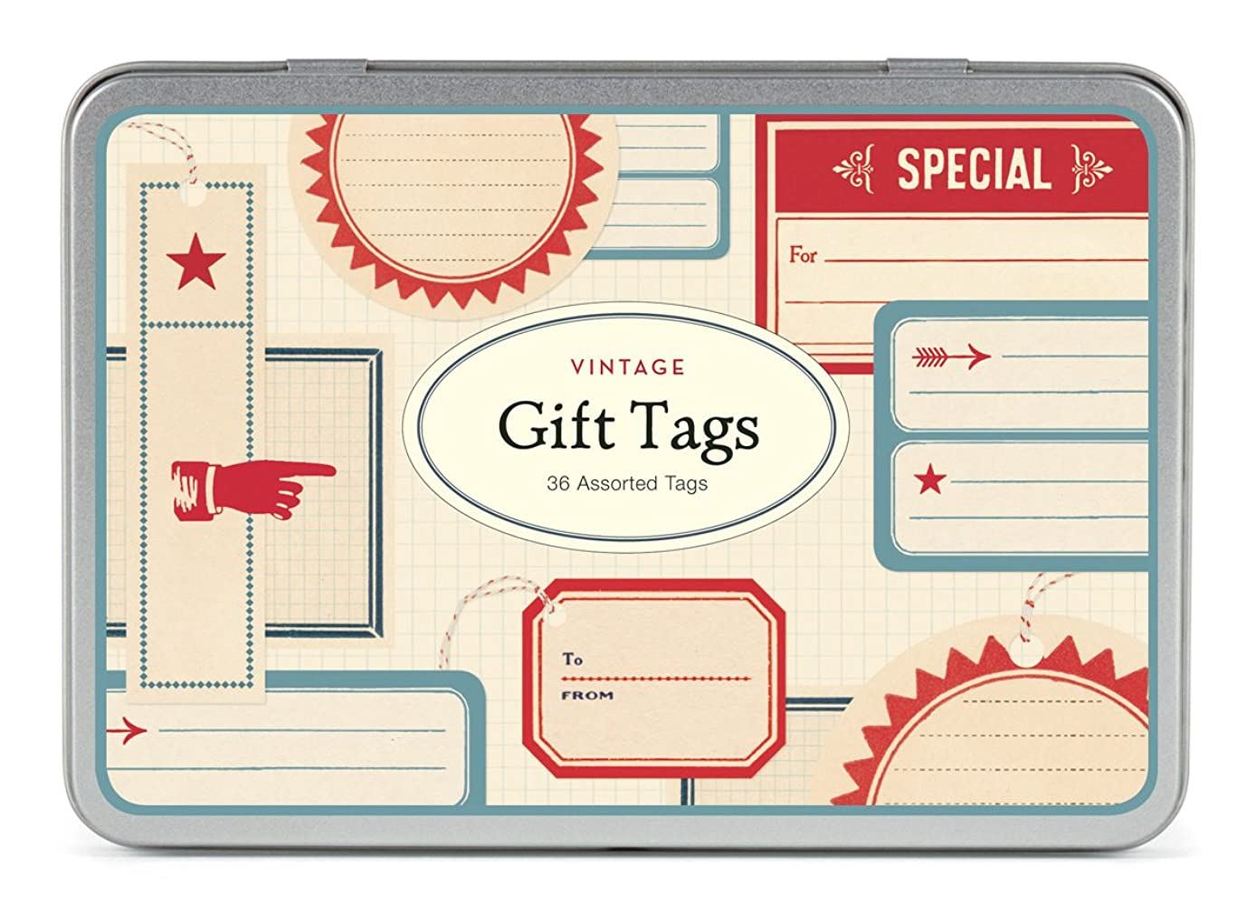 Cavallini Papers 36 Assorted Vintage Gift Tags