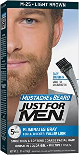 Just For Men Mustache and Beard Brush-in Color Gel, Light Brown