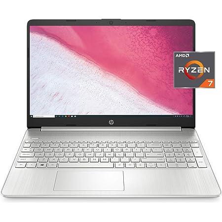 HP 15-inch HD Laptop, AMD Ryzen 7 3700U Processor, 8 GB RAM, 256 GB SSD, Windows 10 Home (15-ef0022nr, Natural Silver)