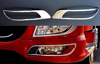 24//7Auto Lot de 2 marchepieds en Acier Inoxydable Poli Miroir avec Logo pour d/écorations XF 95//105