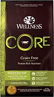 Wellness CORE Natural Reduced Fat Grain Free Dry Dog Food, Turkey & Chicken, 26-Pound Bag
