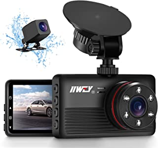 IIWEY 1440P&1080P Dual Dash Camera for Cars with 6 IR Lights Night Vision 2K Car Camera Dash Cam Front and Rear with 3.2' ...