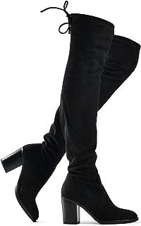 Best tie back over knee block heeled boots Reviews