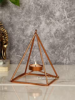 CraftVatika Tealight Candle Holder for Home Diwali Decoration Items Iron Geometric Tea Light Candle Holders Stand for Tabl...