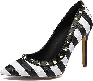 Chris-T Women's Studded Stiletto 10CM High Heels Rivets...