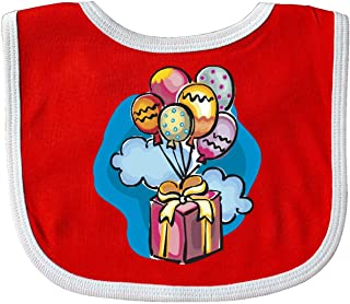 Inktastic Birthday Bouquet Baby Bib Red/White