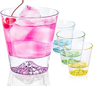 CREATIVELAND Cocktail Glass – Set of 4 Colored Premium Drinking Gl – Glassware set for mixed drinks, cocktails, juice or w...