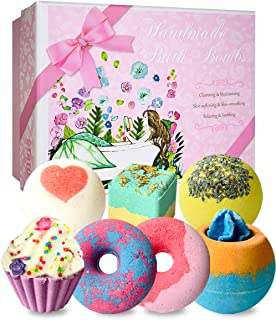 STNTUS Bath Bombs, 7 Natural Bath Bomb Gift Set, Handmade Bubble Bathbombs for Women Kids, Shea Butter Moisturize, Gifts f...