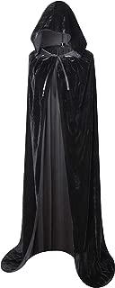 Full Length Hooded Velvet Cloak Halloween Christmas Fancy Cape Costumes 59