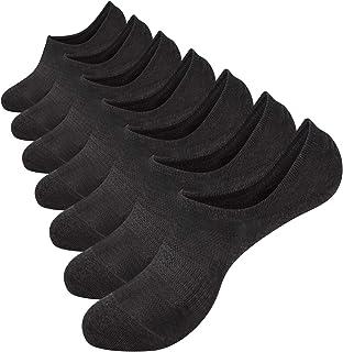 No Show Socks Mens 7 Pack Cotton Thin Non Slip Low Cut Men Invisible Sock 6-9/10-12