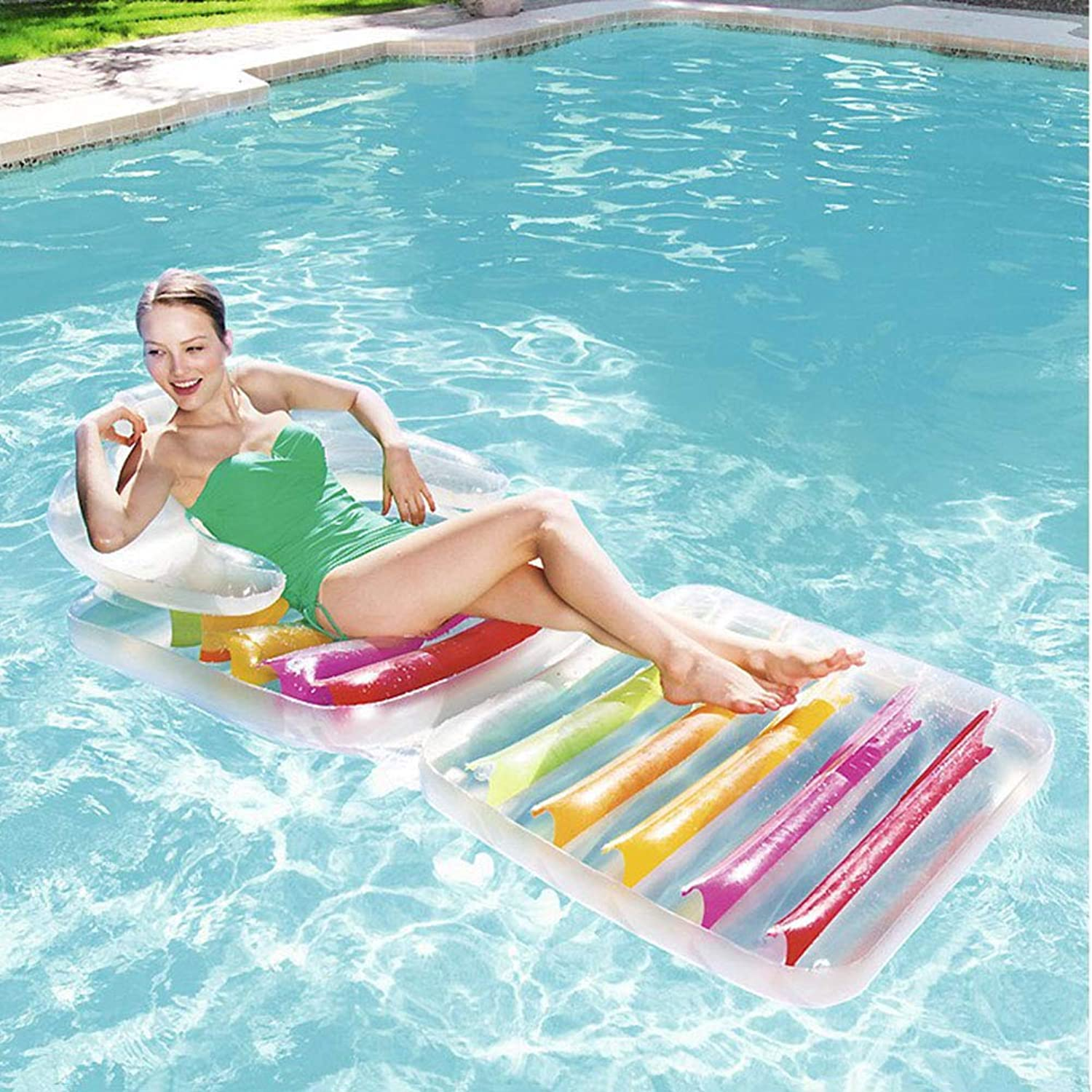 Floats Giant Water Land color Pool Float  Fun Adults Swim Party Toy  Summer Lounge Raft