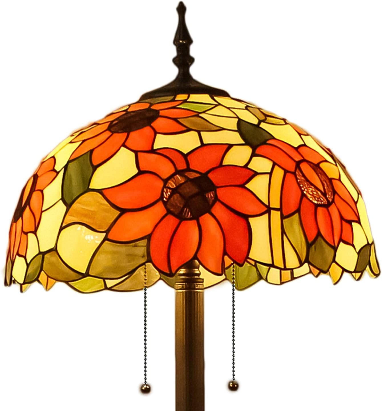 Mural Times Lighting Limited time for free shipping Tiffany Lamp Sunflower W16H66 Handmade New products, world's highest quality popular! Inch