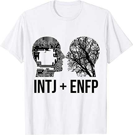 Amazon com: INTJ and ENFP relationship t-shirt: Clothing
