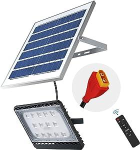 120W Solar Flood Light Outdoor, Dusk to Dawn Solar Sercurity Light IP65 Waterproof, LED Flood Light Solar Powered with Remote Control,6000K Daylight White for Yard, Garden, Pathway,Garage, Porch