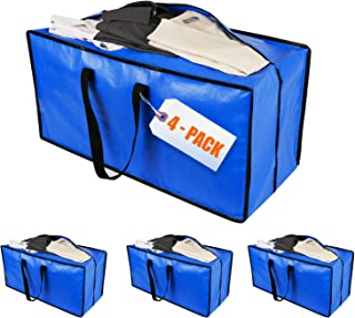 Sponsored Ad - HOMGREEN 4 Packs Extra Large Moving Bags with Zippers & Carrying Handles, Heavy-Duty Moving & Packing Suppl...