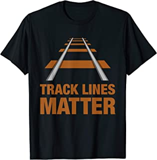 TRACK LINES MATTER Model Trains T-Shirt for men & boys