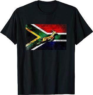 Springbok Bokke South African Flag Vintage Rugby T-Shirt