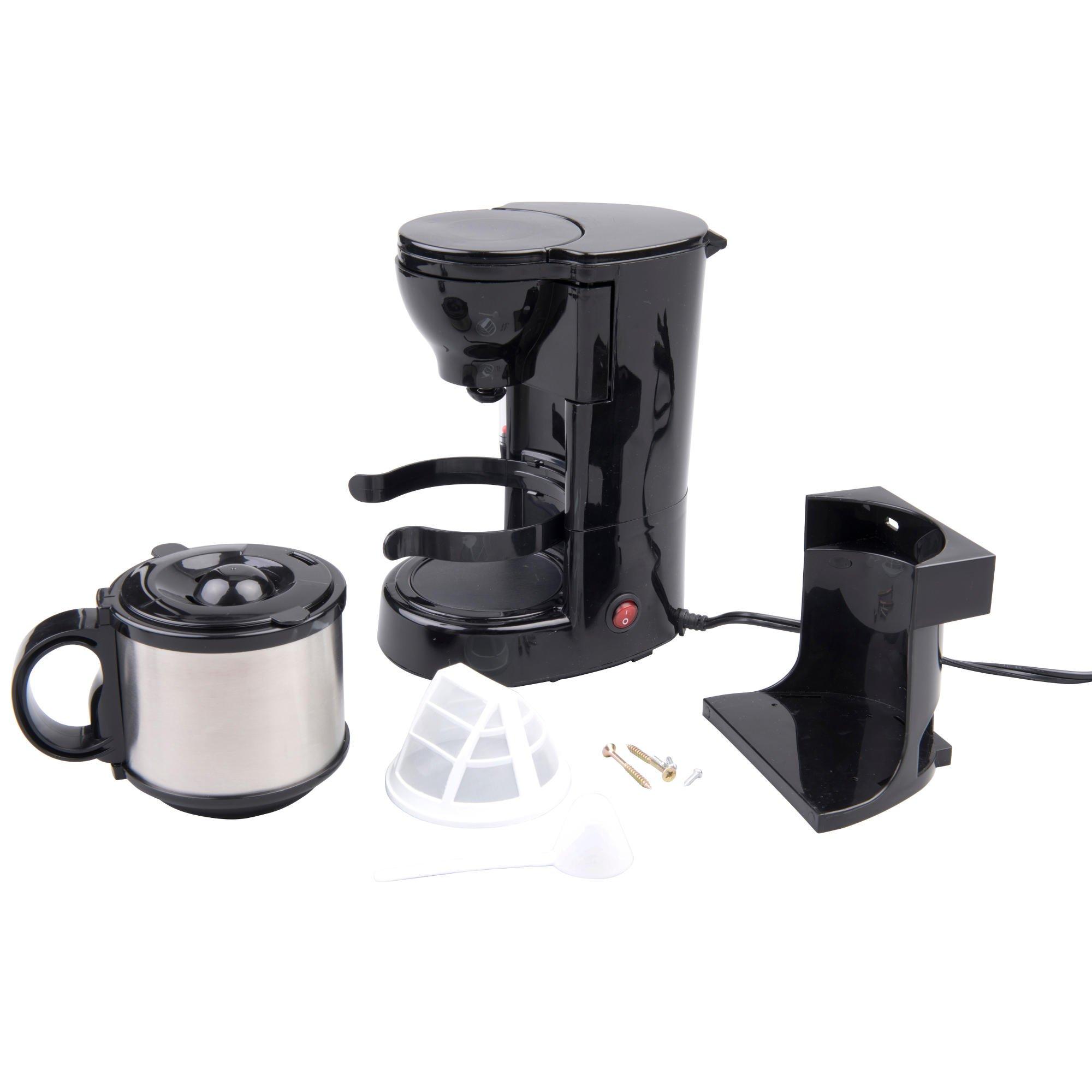 24 V 24 V Camiones Cafetera con jarra térmica y filtro permanente, 24 V 300 W filtro cafetera con soporte: Amazon.es: Hogar