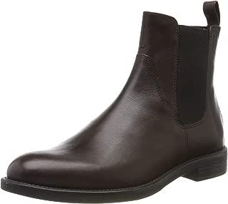 Womens Amina Closed Toe Espresso Leather Ankle Chelsea Boots