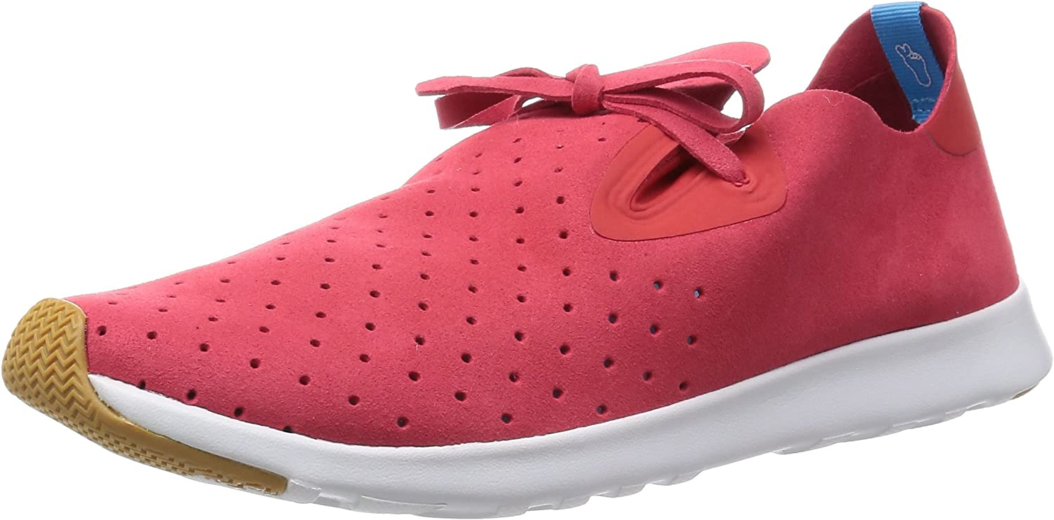Native shoes Unisex Apollo Moc Torch Red Shell White Sneaker Men's 10, Women's 12 Medium