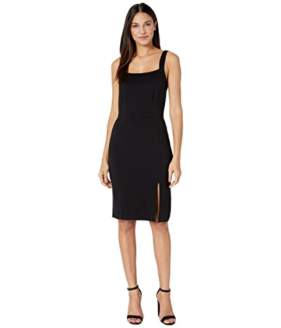Cupcakes and Cashmere Cardif Ponte Dress w/ Slit (Black) Women