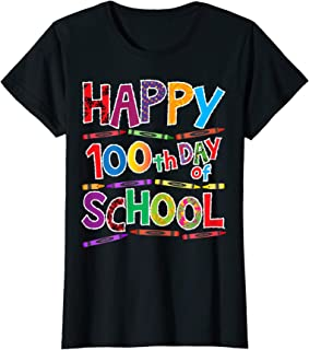 Womens Happy 100th Day of School Shirt for Teacher Appreciation day