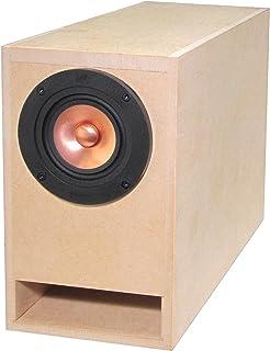B5サイズより一回り小さいコンパクト・バックロードホーン 組立済み自作キット CBLH-A5UR(2個1組)[推奨SPユニット付 MarkAudio社 Alpair5v2SS Gold 2個セット]