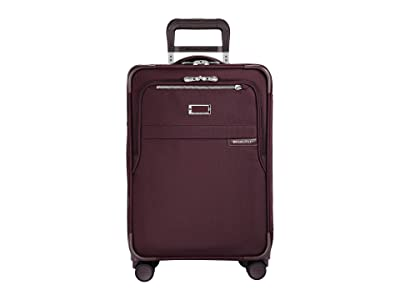 Briggs & Riley Baseline Domestic Carry-On Expandable Spinner (Plum) Carry on Luggage