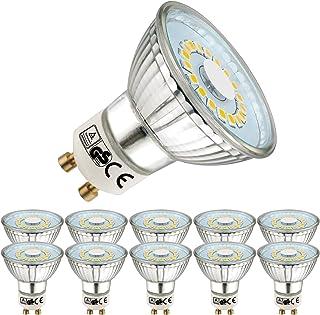 EACLL Bombillas LED GU10 4000K Blanco Neutro 5W 450 Lúmenes Equivalente 50W Halógena Lámpara. 120 ° Luz Blanca Neutra natural Spotlight, 10 Pack